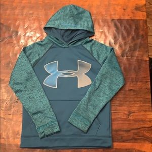Under armor hoodie blue and gray